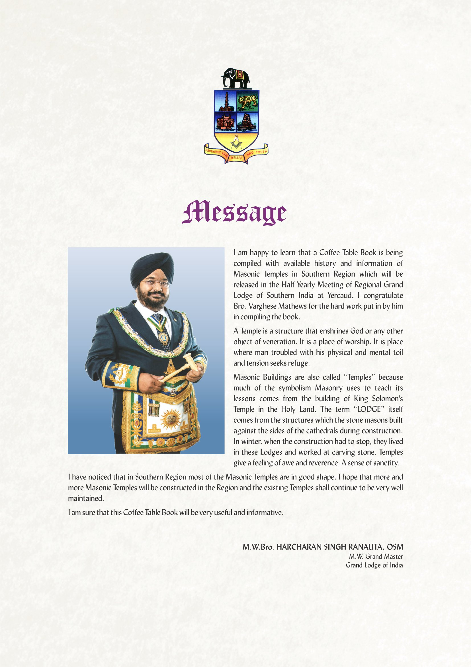 Message Grand Master